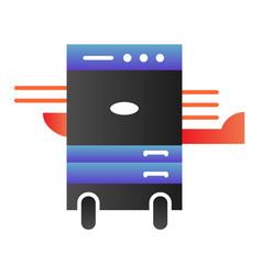 Copier printer flat icon multifunction laser vector