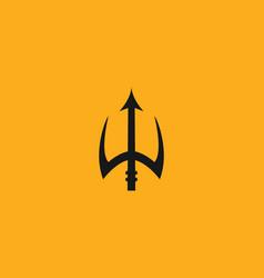 creative design trident poseidon logo crown or vector image