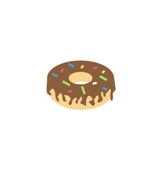 donut graphic design template isolated vector image