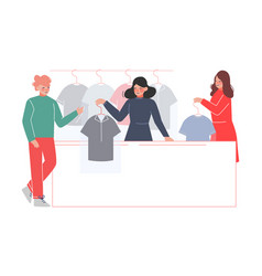 dry cleaning service female worker giving to vector image