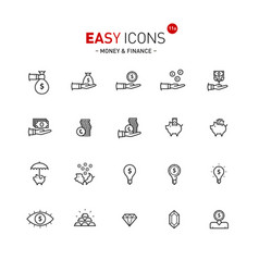 Easy icons 11a money vector