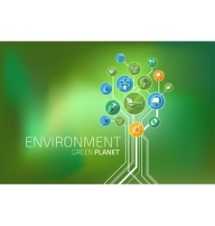 Ecology Infographic Environment Green Planet vector