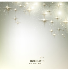 Elegant Christmas background with stars vector