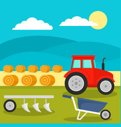 field tool concept background flat style vector image