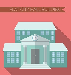flat design modern city hall building icon vector image