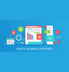 Flat modern concept digital business vector