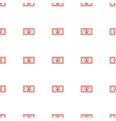 Foot carpet icon pattern seamless white background vector