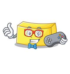 gamer butter mascot cartoon style vector image