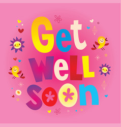 get well soon vector image