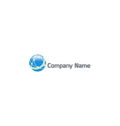 globe planet sphere digital technology company vector image