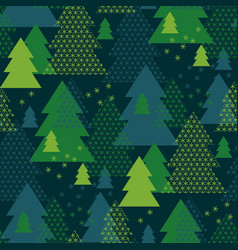 green xmas geometry abstract pattern vector image