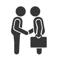 handshake of business men vector image