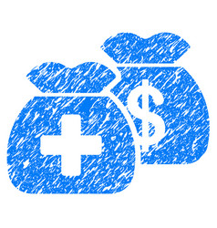 Health care funds grunge icon vector