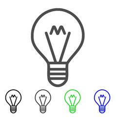 Hint lamp flat icon vector
