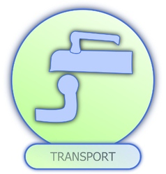 icons and symbols of car parts - transport vector image