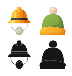 Isolated object of headwear and cap icon vector