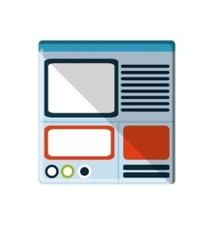 Isolated website and internet design vector
