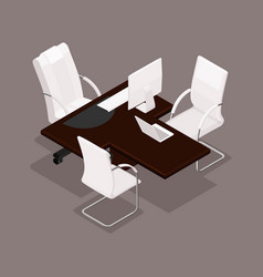 Isometric office furniture vector