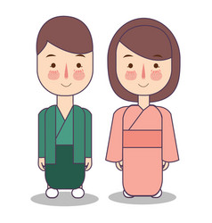japan man woman people characternational vector image