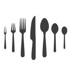 knife forks spoones icons vector image