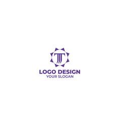 letter tm in sun logo design vector image
