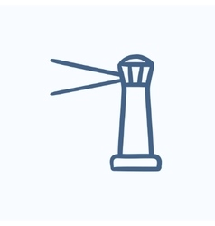 Lighthouse sketch icon vector image