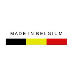 made in belgium vector image