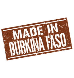 made in burkina faso stamp vector image vector image