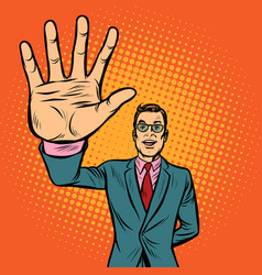 man high-five gesture vector image