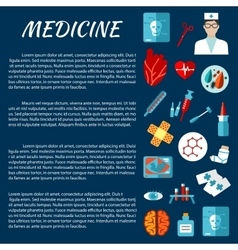 Medicine design template with first aid symbols vector image