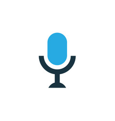 microphone colorful icon symbol premium quality vector image vector image