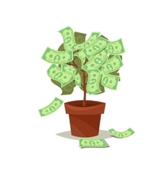 Money tree icon flat Isolated on background vector image