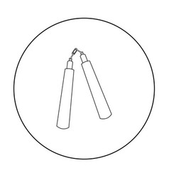 Nunchuck icon outline single weapon icon from the vector