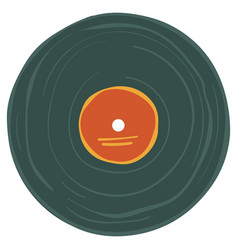 old vinyl plate with label music record on tape vector image