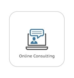 Online Consulting Icon Business Concept Flat vector image