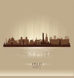 oslo norway city skyline silhouette vector image