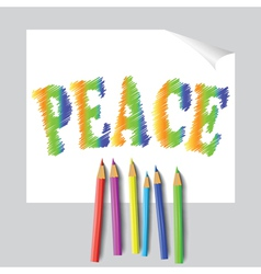 Peace paint vector