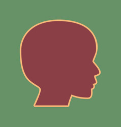 People head sign cordovan icon and mellow vector