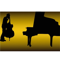 Piano and bass vector image