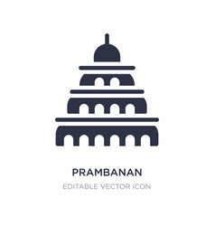 Prambanan icon on white background simple element vector