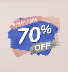 Sale badge sticker pastel brush stroke shopping vector