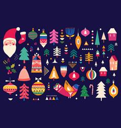 scandinavian folk christmas vector image