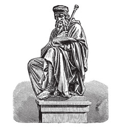 sculpture of john wycliffe vintage vector image