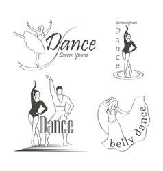 set dancing emblems vector image