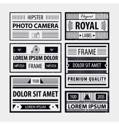 Set of modern hipster frames labels vector