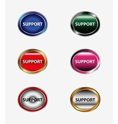 Set of Support icon vector