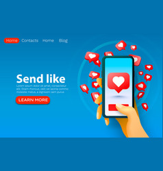 social follower people heart icon like web site vector image