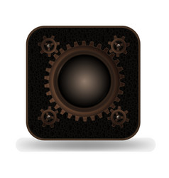 Steampunk style photo icon vector