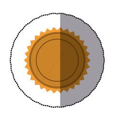 sticker of silhouette with circular frame and vector image