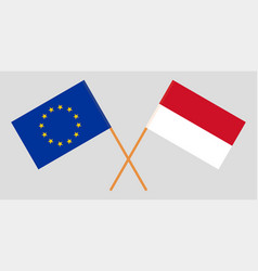 The indonesian and european flags vector